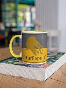 Caneca Alça colorida e interior Hufflepuff Quidditch team