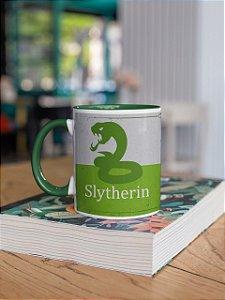 Caneca Alça colorida e interior Slytherin Quidditch team