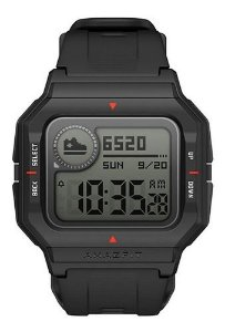 Smartwatch Amazfit Sport Neo 1.2  Caixa De  Plástico  Black Pulseira  Black De  Pur A2001