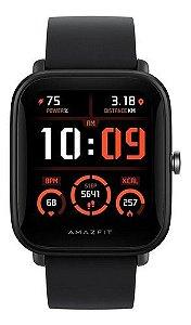 Smartwatch Amazfit Basic Bip U Pro 1.43  Caixa De  Policarbonato  Black Pulseira  Black De  Borracha De Silicone A2008