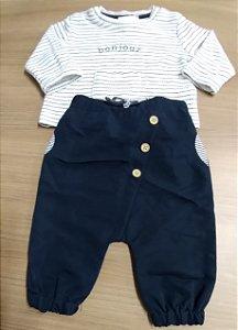 Conjunto Baby Calça e Blusa - 5 Meses
