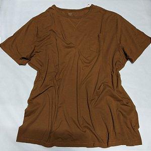 Camiseta Plus Size Masculina - Tam. 3GG (avaria: Pequeno furo no ombro)