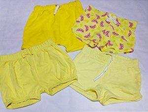 Shorts Infantil Verão - Etiqueta Amarela