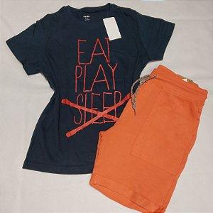 Conjunto Camiseta e Bermudão de Moletom -  Juvenil e  infantil