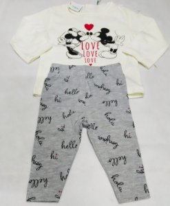 Conjunto em Legging com Camiseta para Bebe Menina - 03 meses