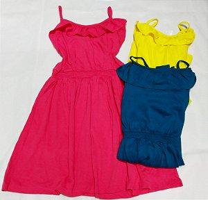 Vestido Malha Verão Menina Infanto Juvenil