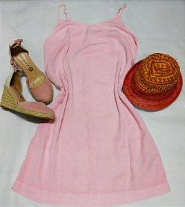 Vestido em Tencel Feminino - Outubro Rosa Tam. 38 (avaria: pequeno risco de caneta)