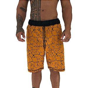 Bermuda Masculina Moletom MXD Conceito Amarelo Queimado Enraizado