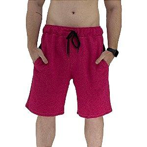 Bermuda Masculina Moletom MXD Conceito Pink Mesclado