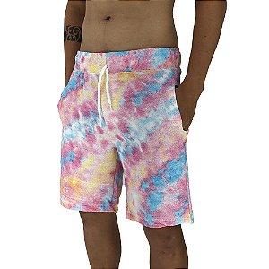 Bermuda Masculina Moletom MXD Conceito Tie Dye