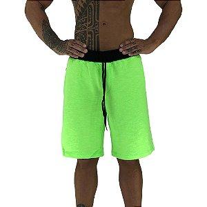 Bermuda Masculina Moletom MXD Conceito Verde Fluorescente