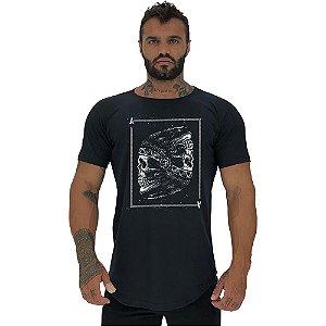 Camiseta Longline Masculina Manga Curta MXD Conceito Ases Indígena