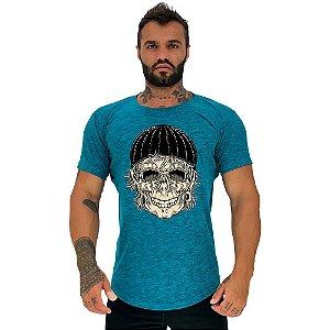 Camiseta Longline Masculina Manga Curta MXD Conceito Old Skull
