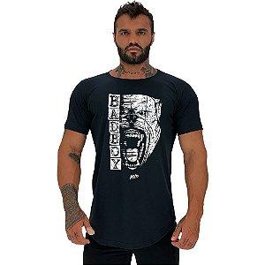Camiseta Longline Masculina Manga Curta MXD Conceito Pitbull Bad Boy