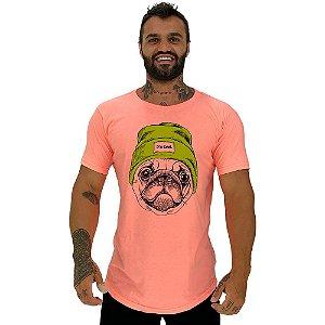 Camiseta Longline Masculina Manga Curta MXD Conceito Pug It's Cool