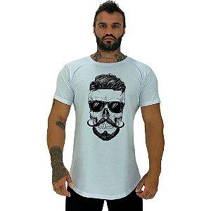Camiseta Longline Masculina Manga Curta MXD Conceito Stylish Skull