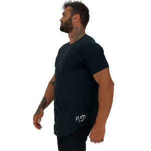 Camiseta Longline Masculina Estampa Lateral Logo MXD Conceito