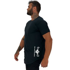 Camiseta Longline Masculina MXD Conceito Estampa Lateral Be Strong