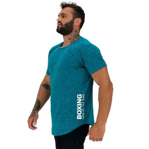 Camiseta Longline Masculina MXD Conceito Estampa Lateral Boxing King Of The Ring