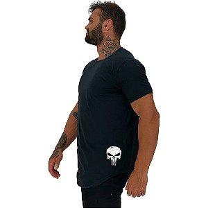 Camiseta Longline Masculina MXD Conceito Estampa Lateral Caveira Vingador