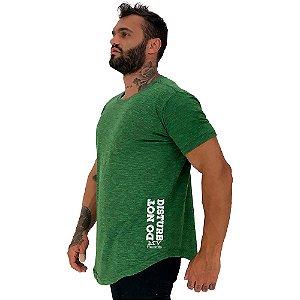 Camiseta Longline Masculina MXD Conceito Estampa Lateral Do Not Disturb My Training