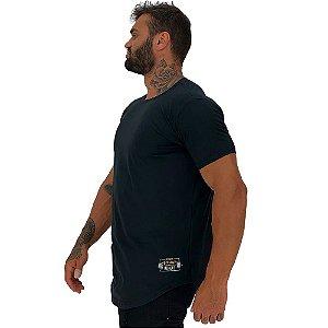 Camiseta Longline Masculina MXD Conceito Estampa Lateral Eat Sleep Squad Repeat