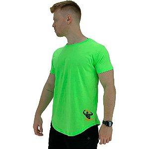 Camiseta Longline Masculina MXD Conceito Estampa Lateral Esmaga Que Cresce Bodybuilder