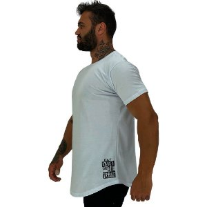 Camiseta Longline Masculina MXD Conceito Estampa Lateral Get Big Or Die Traing