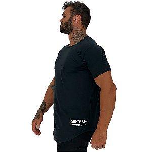 Camiseta Longline Masculina MXD Conceito Estampa Lateral Muscles Loading Please Loading