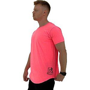 Camiseta Longline Masculina MXD Conceito Estampa Lateral Pitbull Furious