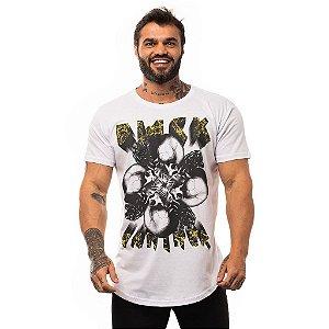 Camiseta Longline Masculina MXD Conceito Limitada Black Panther