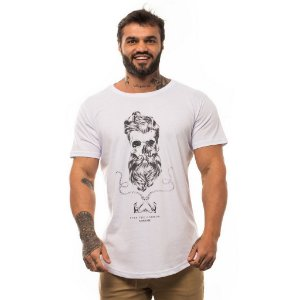 Camiseta Longline Masculina MXD Conceito Limitada Captain Black Skull Âncora