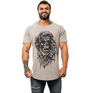 Camiseta Longline Masculina MXD Conceito Limitada Caveira do Saara