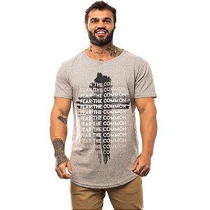 Camiseta Longline Masculina MXD Conceito Limitada Crucifixo Fear The Common