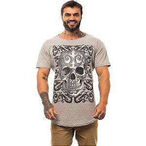 Camiseta Longline Masculina MXD Conceito Limitada Dragon Skull Dragão Oriental