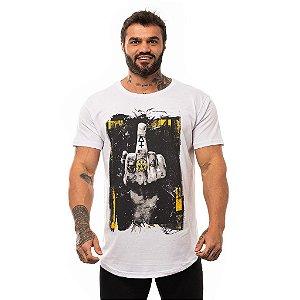 Camiseta Longline Masculina MXD Conceito Limitada Mãos Com Gestos Black Tattoo