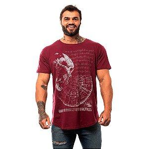 Camiseta Longline Masculina MXD Conceito Limitada World Skull