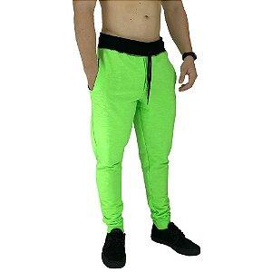 Calça Masculina Moletom MXD Conceito Verde Flúor