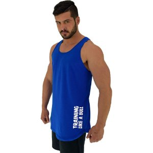 Regata Longline Masculina MXD Conceito Estampa Lateral Training Like a Bull