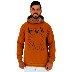 Blusa Moletom Masculino MXD Conceito Com Touca Go Wild