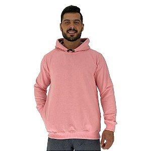 Blusa Moletom Masculino MXD Conceito Com Touca Rosa