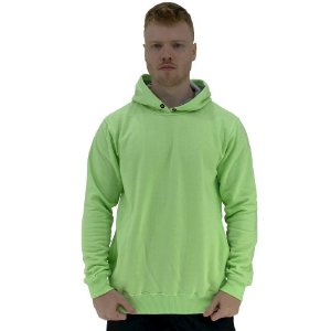 Blusa Moletom Masculino MXD Conceito Com Touca Verde Fluorescente