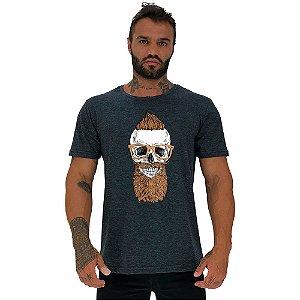 Camiseta Tradicional Masculina Manga Curta MXD Conceito Caveira Moicano