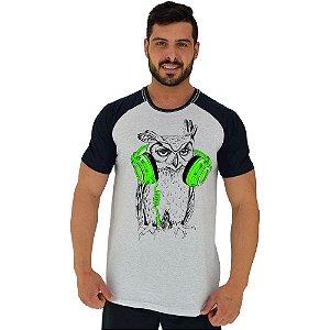 Camiseta Tradicional Manga Curta MXD Conceito Coruja de Headphone