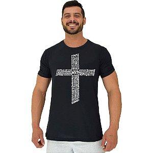 Camiseta Tradicional Manga Curta MXD Conceito Crucifixo Motivacional