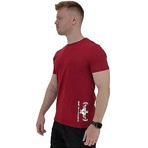 Camiseta Tradicional Masculina MXD Conceito Estampa Lateral Be Strong