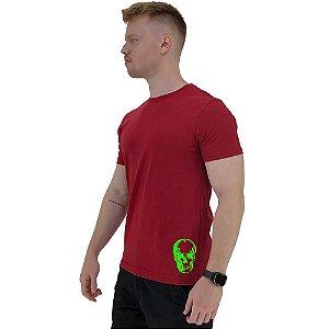 Camiseta Tradicional Masculina MXD Conceito Estampa Lateral Caveira Fluorescente