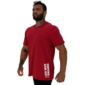 Camiseta Tradicional Masculina MXD Conceito Estampa Lateral Do Not Disturbing My Training