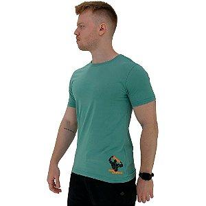 Camiseta Tradicional Masculina MXD Conceito Estampa Lateral Esmaga que Cresce