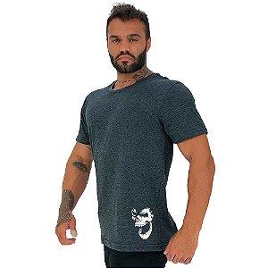 Camiseta Tradicional Masculina MXD Conceito Estampa Lateral Gorila